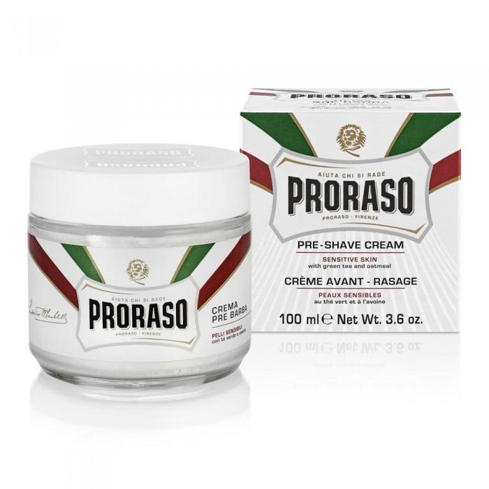 Cremă pre-bărbierit Proraso Sensitive cu ceai verde și ovăz, 100 ml